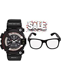 STYLISH COMBO BIG S SHOCK+CLEAR SUN-GLASS FOR BOYS AND MEN BEST DEAL AND FAST SELLING