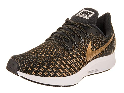 6f8f44b06a3f9 Nike Damen Air Zoom Pegasus 35 Laufschuhe Mehrfarbig (Black Metallic Wheat  Gold 007)