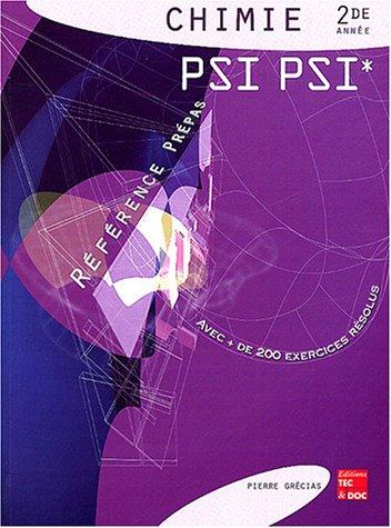 Chimie 2de année PSI PSI*