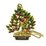 Fengshui Bejeweled Limettenbaum Keychain mit freiem rotem Schnur-Armband W3374
