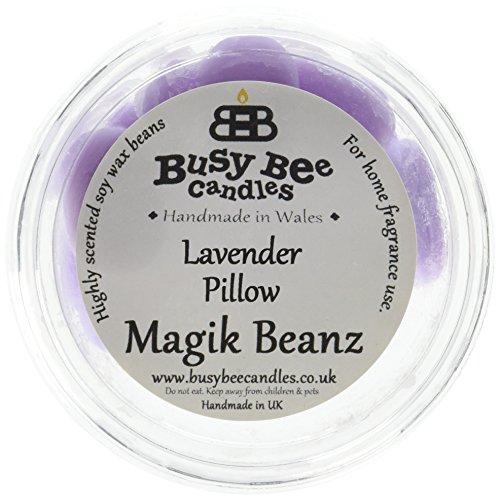 Busy Bee Bougies Lavande Taie d'oreiller Magik Beanz, Violet, Lot de 6