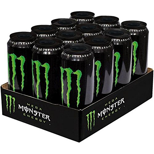 12 Dosen a 553ml Mega Monster Energy Dose Energy Drink inc.3,00€ Einweg Pfand grün (Monster Aus Monsters Inc)