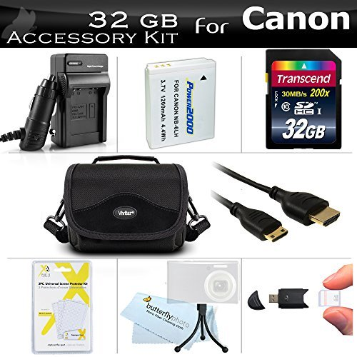 32GB Accessories Kit For Canon PowerShot SX500 IS SX510 HS SX520 HS SX530 HS Digital Camera Includes 32GB High Speed SD Memory Card + Replacement (1200maH) NB-6L Battery + Ac/Dc Charger + Case + More  available at amazon for Rs.6936