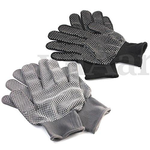 Veena Black 1 Pair Heat Proof Resistant Protective Glove Hair...