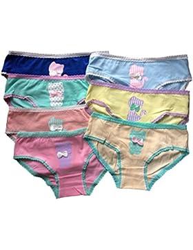 Mädchen Unterwäsche, unterhosen 7 Satz Gemischt Farbe Schriftsatz (freie Größe passen 146-176).