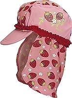 Playshoes Girl's UV Sun Protection Swim Sun Hat Strawberries Cap, Pink (Original), Large (Manufacturer Size:53cm)