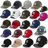 New Era 9forty Strapback Casquette MLB Yankees de New York Los Angeles Dodgers Hommes Femmes Casquette Chapeau Plusieurs Couleurs dans le Bundle avec UD Bandana - Ny Royal #2507, Adjustable
