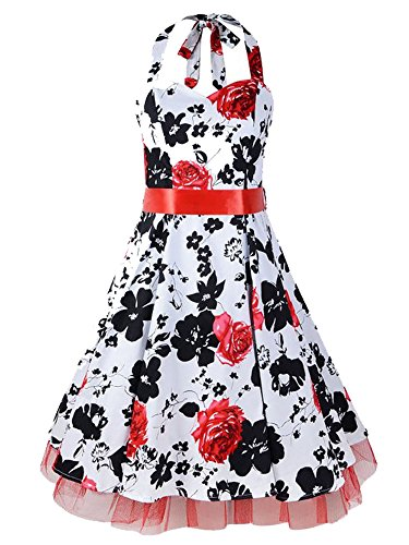 LUOUSE Robe Années 50 Vintage Infinity 'Rhya' Rouge