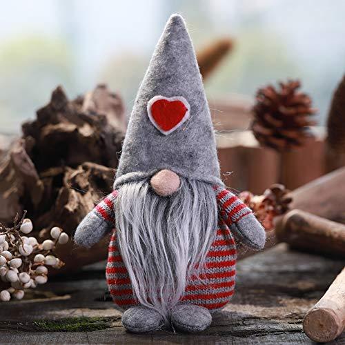 Non-Woven-Hut mit Herz Handmade Gnome Santa Weihnachtsfiguren Ornament Holiday Table Decor Festliche Gegenwart Balight