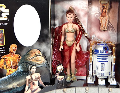 Princess Leia in Slave Outfit & R2-D2 with Service Tray as Jabba`s Prisoners 12