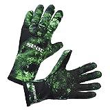 Seac Anatomic Camo Gloves, Guanti da Sub in Neoprene da 3.5 Mm per Pesca Subacquea in Apnea Unisex – Adulto, Verde, XL
