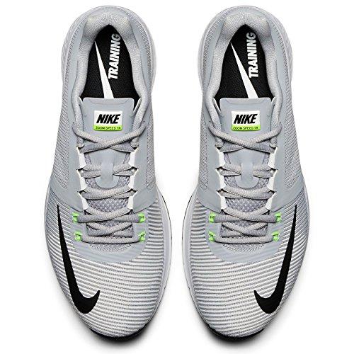 Nike Zoom Speed Tr3, Scarpe Stringate Basse Brogue Uomo Gris / Negro (Wolf Grey / Black-Volt-White)