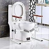 Asidero de Barra de baño Estante del Inodoro Coloque el Taburete del Inodoro - Riel para Inodoro - Armazón de Seguridad para el baño médico para Ancianos,Pasamanos Ajustable para Inodoro