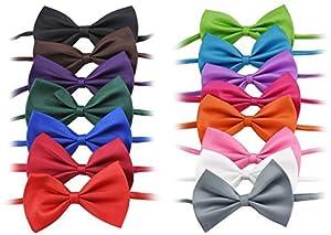 FiveSeasonStuff® 15couleurs assorties pour habiller votre chien chat chiot chaton mignon collier réglable pour chien Pet Nœud Papillon/cravate/ev29