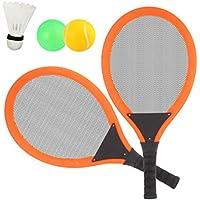 Dreamon Raquetas de Tenis con Bolas bádminton Juguete para Niños y Niñas ,Juego de Deporte Playa al Aire Libre (Naranja)