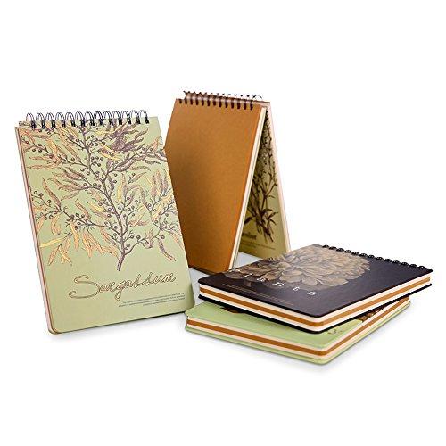 ume Spirale Künstler Zeichnen Einband Notebooks Diary Set Tagebuch Blanko Papier Sangallum (Spirale Notebook)