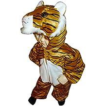 F14 Tamaño 2-3 años Disfraz de tigre para los niños pequeños y los niños, cómodo de llevar en la ropa normal