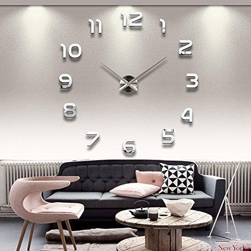 Lifeup- Orologio da Parete Splendido con Numeri Adesivi Murali ,Tono 3D Effetto...
