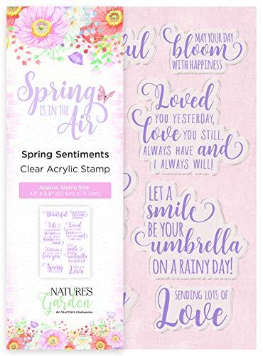 Crafter's Companion Natur's Garden Acryl-Stempel - Frühlingsstimmungen