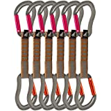 Fusion Fusion Climb Techno Zoom Straight Gate Key Nose Carabiner Ultra-Light Quickdraws ST/ST-11 CM 6 Pack - B01IO71W02