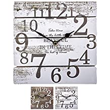 Reloj Madera Vintage 20x20cm 2 Surtido A Elegir 1