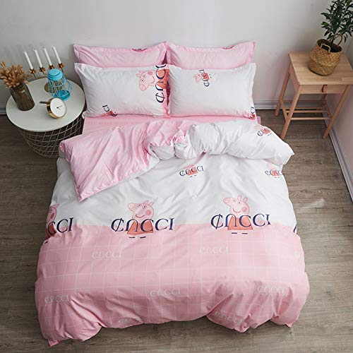 Teenager Gruppe Mädchen Kostüm Von - YATING Vierteiliges Bettbezug-Einzelbett aus 1,5 m bis 1,8 m Länge für DREI Gruppen sozialer Menschen. Vierteiliges Set aus 1,2 m Länge