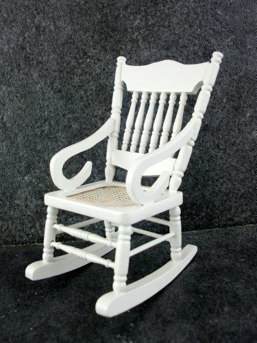 Dolls House Nursery Furniture White Rocking Chair 5301