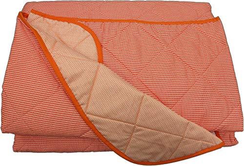Bassetti Quilt Tagesdecke Minimal Single cm.170x 265Stoff Baumwolle-Double Face Arancio -