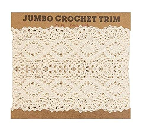 2m Vintage Lace Trim Ivory Wedding Bridal Ribbon Crochet White