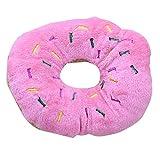 ZYCX-Pet Chew Giocattoli Donuts Pet Peluche vocali Giocattoli Bite molare di Pulizia del Dente del Giocattolo di Peluche di Formazione Giocattoli (Colore Rosa)