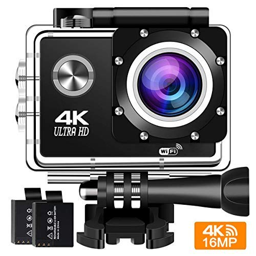 Action Cam 4K 16MP Wifi Action Kamera BUIEJDOG Sports Cam Ultra Full HD 2
