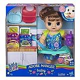 Baby Alive- Adore Manger-Bambola per Capelli castani, E4895FR0,