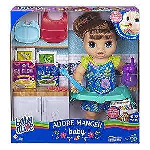 Baby Alive - Adore - Muñeca de Pelo marrón E4895FR0,