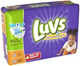 Luvs Ultra Leakguard Super Absorbent Diapers (34 PCS, Size 3)