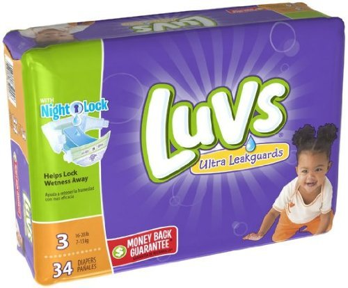 Luvs Ultra Leakguard Super Absorbent Diapers (34 PCS, Size 3)