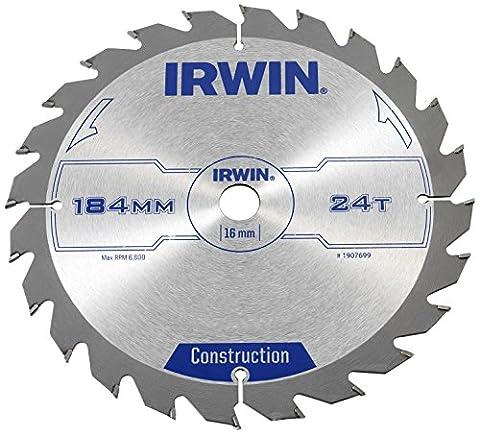 IRWIN IRW1907699 184 x 16mm 24-Teeth Professional Circular Saw Blade - Wood