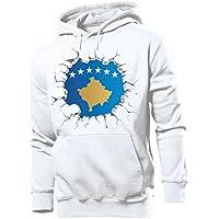 love-all-my-shirts Fussball Fanhoodie Kosovo Männer Herren Hoodie Pulli Kapuzen Pullover Fanartikel