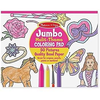Melissa & Doug 4225 - Loisir Créatif - Cahier de Coloriage Géant - Rose