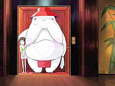 ANIME SPIRITED AWAY CHIHIRO SEN SPIRIT LIFT ELEVATOR SCENE FILM MOVIE 18X24'' AFFICHE POSTER ART PRINT LV10005