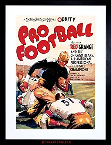 MOVIE FILM PRO FOOTBALL SPORT SHORT CHICAGO BEARS USA FRAMED PRINT F97X4130