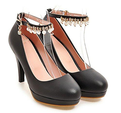Franges Escarpins Sexy Wsspqvbc4 Aisun Boucle Femme Stiletto Noir 8qxaAHfW
