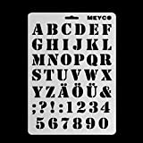 Plantillas de dibujo de letras del alfabeto Runrain para pintar en la pared, álbum de