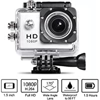 Neewer 1080P H.264 Sports Camera with 1.5Inch LCD Display 12MP