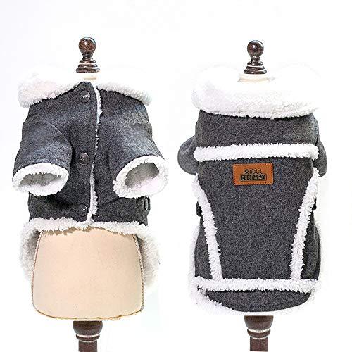 (O-center Graue Nordische Jacke für Hunde und Katzen, für Weihnachten, Halloween, für Hunde und Katzen, Gr. L)