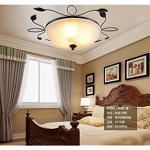 LXLFMY, coperta soffitto camera da letto balcone del soffitto di corridoio hotel lampade in vetro circolare Dimensioni: 540 * 140 (mm) 220