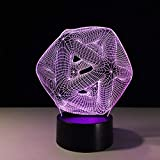 Nachtlicht Optical Illusion Lamp Schlafzimmer Tischlampe 3D Lampe Led Home Veilleuse Plexiglas Platte Lampara Infantil Farbwechsel Bulbing Kinder Spielzeug