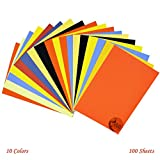 #4: AsianHobbyCrafts Multicolor A4 Sheets (80 GSM) : Pack of 100 Sheets