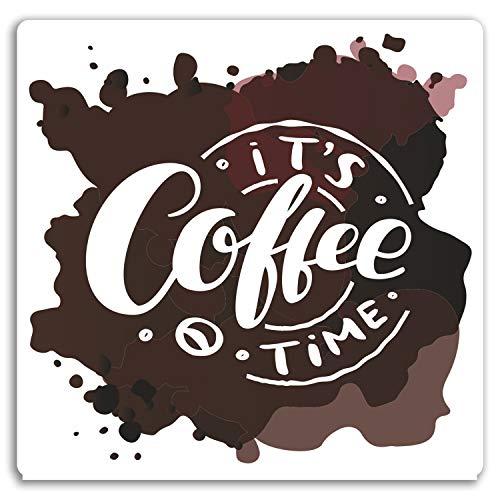 DestinationVinyl 2 x 10 cm Kaffee-Fleck-Zeit Vinyl Aufkleber - Café-Aufkleber Gepäck Laptop # 17652 (10 cm breit)