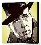 - Bogart–Humphrey Bogart Cadre Impression sur toile, stretched canvas print, Druck auf keillenwand, impression sur toile–Reproduction du peinte originale