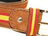 Legado Cinturón Hombre piel de cuero serraje beige tira ancha ESPAÑA hecho en Ubrique CON PULSERA BANDERA ESPAÑA DE REGALO